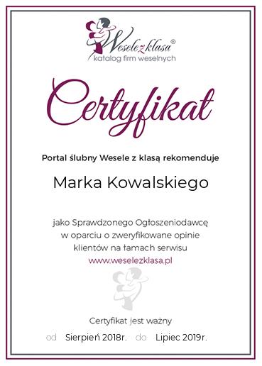 certyfikat weselezklasa